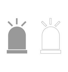 siren set icon vector image