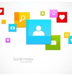 Social media concept vector image vector image