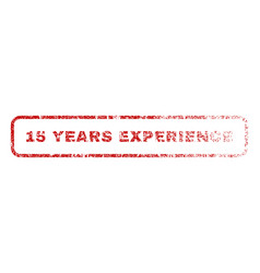 15 years experience rubber stamp vector image