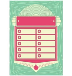 1950s Style Jukebox Background and Frame vector image