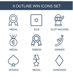 9 win icons vector image