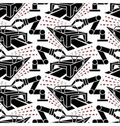 Abstract constructionism seamless pattern vector image
