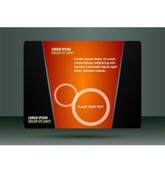 Abstract orange flyer vector