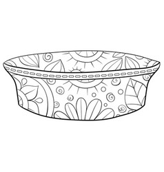 Adult coloring bookpage a cute plate vector