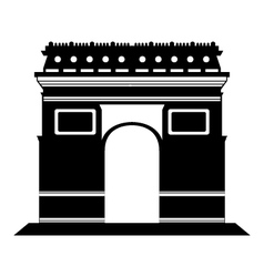 Arc de Triomphe in Paris vector image
