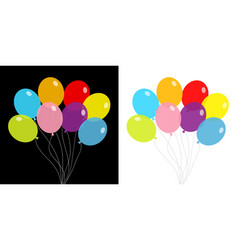 balloon set bunch balloons colorful vector image