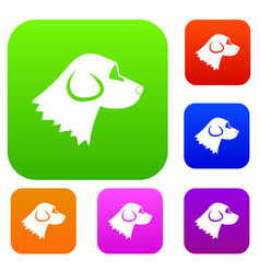 Beagle dog set collection vector