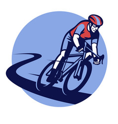 Bicycle race event badge vector