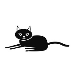 black cat icon simple style vector image