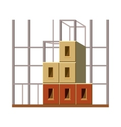 Building construction icon cartoon style vector image