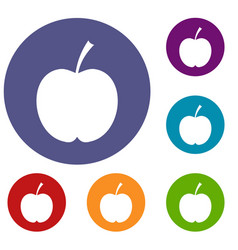 Checkered apple icons set vector