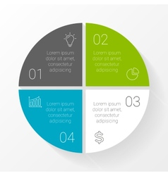 circle infographic Template for cycle vector image