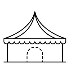 Circus tent icon outline style vector
