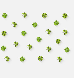 clover with a long shadow in the flat style vector image vector image