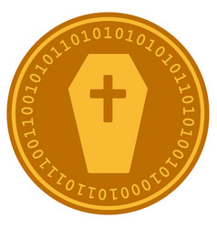 Coffin digital coin vector