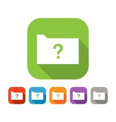 Color set of flat folder with question mark vector
