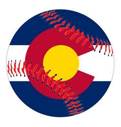 Colorado flag baseball vector