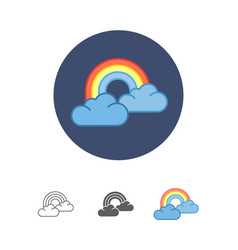 Colorful rainbow icon vector