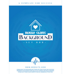 Comfortable and reassuring blue background vector