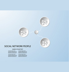 connect group 3d people - man team social network vector image