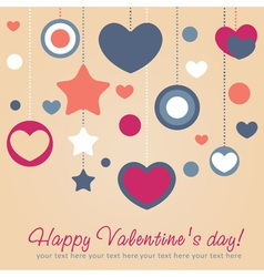 Cute Valentine love congratulation card vector image