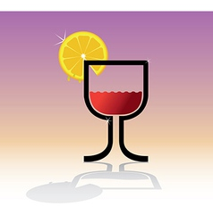 Drink theme vector image