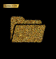 folder icon gold vector image