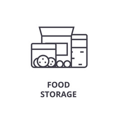 food storage line icon outline sign linear vector image