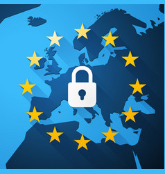 gdpr general data protection regulation euro map vector image
