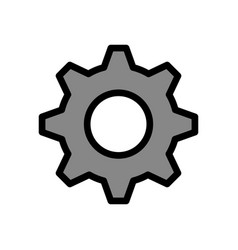 Gear machine isolated icon vector