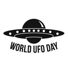 global ufo day logo simple style vector image