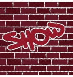Graffiti on brick wall background vector