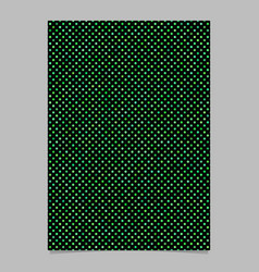 Green circle pattern brochure background vector