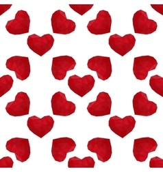 hearts low poly seamless vector image