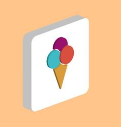 ice cream computer symbol vector image