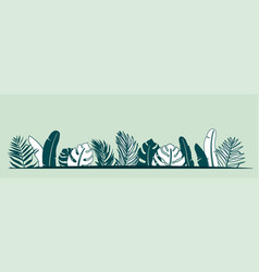 jungle plant border with vector image