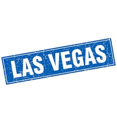 Las Vegas blue square grunge vintage isolated vector