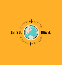 Lets go travel design style vector
