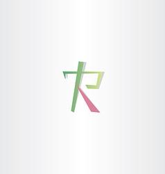 logo letter r icon design vector image