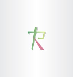 logo of letter r icon design vector image
