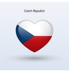 Love Czech Republic symbol Heart flag icon vector image