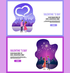 lovely couple valentines day festival vector image