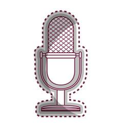 Microphone retro audio device vector