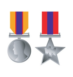 Military bravery medal honor isolated vector