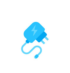 Mobile charger icon flat design vector