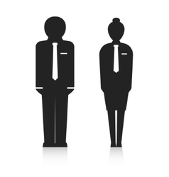 Office workers silhouette vector