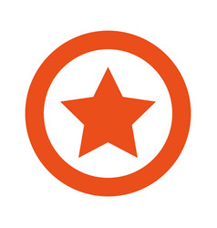 orange symbol star icon vector image