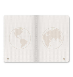 passport blank pages vector image