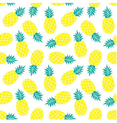 Pineapple background summer colorful tropical vector