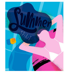 poster summer spirit vector image